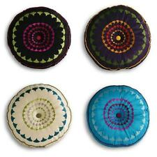 Polyester Embroidered Round Decorative Cushions
