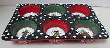 """Pier 1 Christmas Treat Porcelain 11.5"""" x 7.5"""" x 1.5"""" Muffin Pan New with Tag"""
