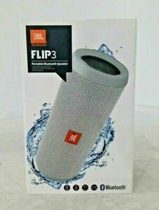 JBL Flip3 Splash proof Bluetooth Wireless Speaker Gray - Factory Sealed box