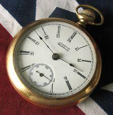 Antique Waltham Pocket Watch 18 size 7 jewels Gold filled case RUNS