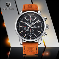 Luxury BENYAR Fashion Chronograph Sport Mens Watches Military Quartz Wrist Watch