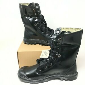 Palladium Men's Baggy Vegan Leather Knit Lace-up Midnight Green Boots Size 10.5