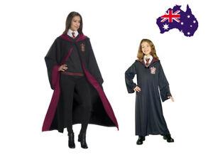 Book Week Harry Potter Adult Kids Gryffindor Robe Fancy Dress Costume Cosplay AU