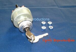 1946 - 1968 Cadillac Ignition Switch Universal complete with keys