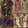 Vestido Casual De Manga Larga Para Verano Mujeres Gasa Boho Playa Ropa De Moda