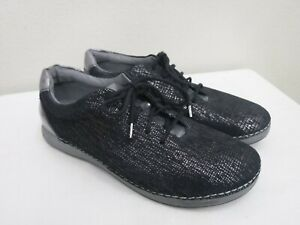 ALEGRIA ESSENCE 10.5 11 41 Metallic Gray Patent Lace Up Sneakers Oxfords Shoes