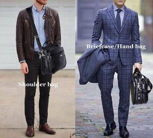 """Laptop Shoulder Bag 16"""" Briefcase Large Business Messenger Handbag Waterproof"""