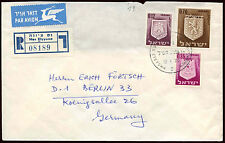 Israel 1970 Registered Cover To Austria #C22434