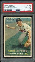 1957 Topps BB Card #151 Willie Miranda Baltimore Orioles PSA NM-MT 8 !!!