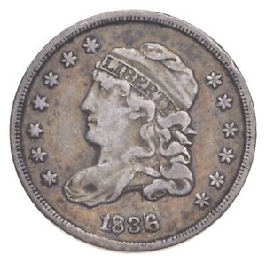 1836 Capped Bust Half Dime - Walker Coin Collection *386