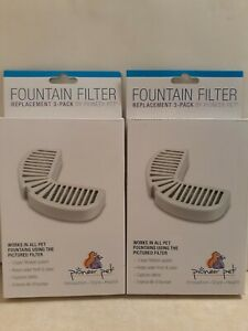 Pioneer Pet Fountain Filters 2 Pack. 6 Total Filters New