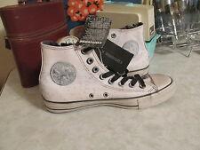 Converse X John Varvatos CTAS Side Zip Painted White Hi Sneaker Women 6  men 4