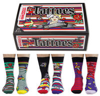 UNITED ODDSOCKS TATTOES SIX TATTOO INSPIRED ODD SOCKS FOR MENS UK 6 -11GIFT IDEA