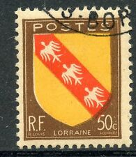 STAMP / TIMBRE FRANCE OBLITERE N° 757 BLASONS ARMOIRIE LORRAINE