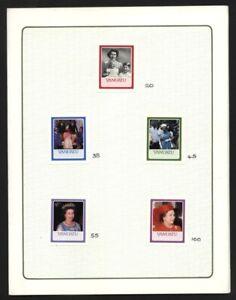 VANUATU QUEEN ELIZABETH 1986 PROOF STAMPS