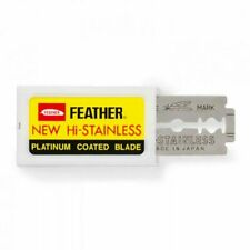 10 Feather Double Edge Razor Blades Made in Japan!!