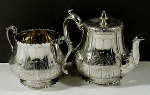 English Sterling Tea Set             1864 PERSIAN TASTE