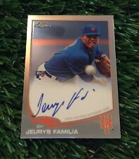 Jeurys Familia 2014 Topps Chrome Rookie Certified On Card Autograph Auto