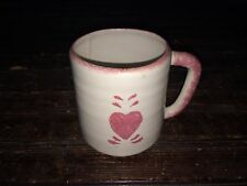 Vintage Annie Lou's Heart Coffee Mug Cup Pottery USA Made 1985