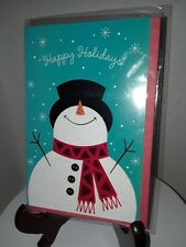 Christmas Card with envelope - New -unused wrapped P. S. Greetings -Snowman