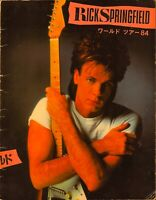 RICK SPRINGFIELD 1984 BEAUTIFUL FEELINGS TOUR CONCERT PROGRAM BOOK / VG 2 NMT