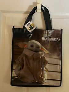 Star Wars The Mandalorian Baby Yoda The Child Grogu Reusable Tote Gift Bag NEW