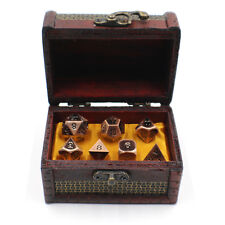 Metal DnD Dice Set with Storage Chest / Box for Roleplaying Games
