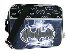 Kids Batman Messenger School Bag Boys Satchel Cross Over Book Bag DC Comics
