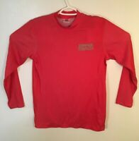 Vintage Hammer Strength Gym Shirt Long Sleeve Size Small S Rare Made in USA Red
