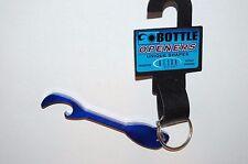 bison bottle beer soda opener keys key ring keyring kayak paddle dark blue ish