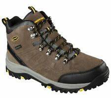 Mens Skechers Relaxed Fit: Relment Pelmo Brown 64869 Boots KHK