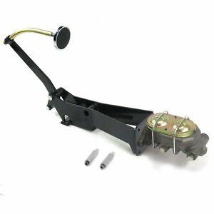49-54 Chevy Car Manual Brake Pedal kit Disk/Drum3in Chr Pad rod master street