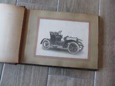 Album de 28 photographies de voitures automobiles de la carrosserie MINOT 1912