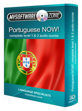 LEARN SPEAK PORTUGUESE NOW COMPLETE LEVEL 1 2  AUDIO LANGUAGE COURSE MP3 CD GIFT