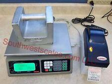 Torrey LPC40 x .01lb Price ComputingDeliMeat Scale w/Godex DT2 Label Printer-SHI