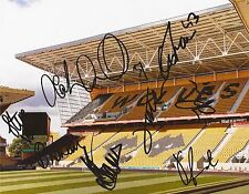 WOLVES F.C U21'S: SIGNED 10x8 GROUND PHOTOx8+COA *COTMAN, PRICE, RECKORD, TANK*