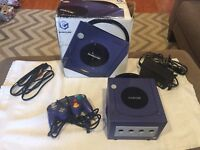 Nintendo Gamecube Indigo Purple Console Complete In Box With Controller