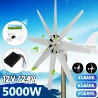 5000W Wind Turbine Genertor Charge Controller Kit 12/24V 3/5/8 Blades For Home