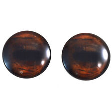 Pair of 40mm Brown Horse Glass Eyes Cabochon Set - Taxidermy, Jewelry, Dolls
