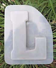 Gostatue MOLD plaster concrete letter L  plastic mold SEE 26 letters available
