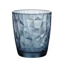 SET 6 BICCHIERI BICCHIERE blu ACQUA 30 cl DIAMANTATI Bormioli Diamond