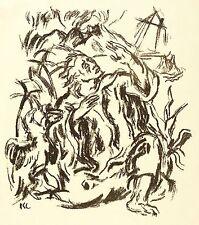 KARL CASPAR - JOHANNES AUF PATMOS - Lithografie 1919