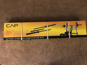 💪Cap  7' Foot Olympic Weight Lifting Steel Bar Barbell 3 Piece 300 Lbs Capacity
