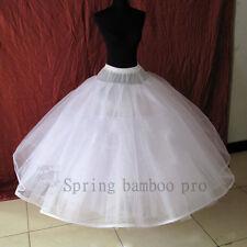 8 Schichten Kein Hoop Weiß Petticoat Unterrock Braut Dame Rock Hoofless Rutschen