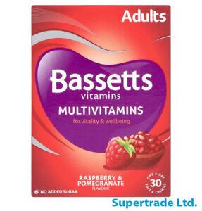Bassetts Raspberry & Pomegranate Adults Multivitamins Vtamin - 30 Chewies