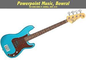 "SX 3/4 Bass Guitar (Short 30"" Scale) Lake Placid Blue + Gig Bag VEP34LPB"