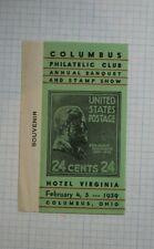 Columbus Oh Philatelic Club Annual Stamp Show 1939 Souvenir Label