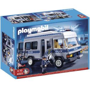 Playmobil City Action Polizei-Mannschaftswagen mit Blinklicht 4023 Neu & OVP