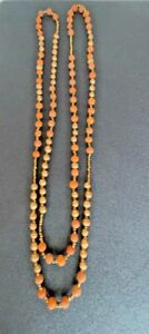 """Noonday Collection  Necklace- Terracotta Rope, Terracotta  & Seed Beads, 60"""""""