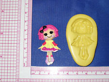 LalaLoopsy Silicone Push Mold Resin Clay Candy Food Bookscraping A486